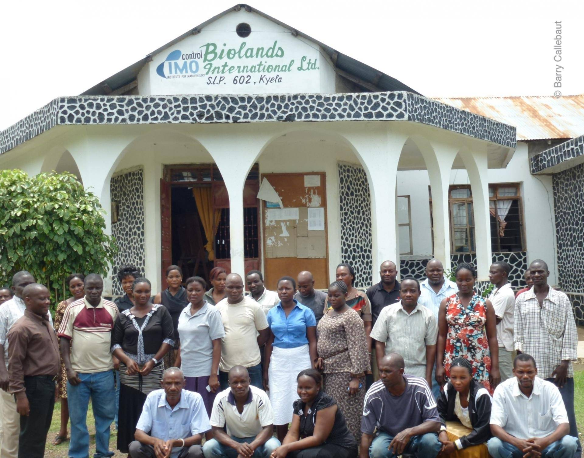 Biolands staff in front of the office in Kyela, Tanzania