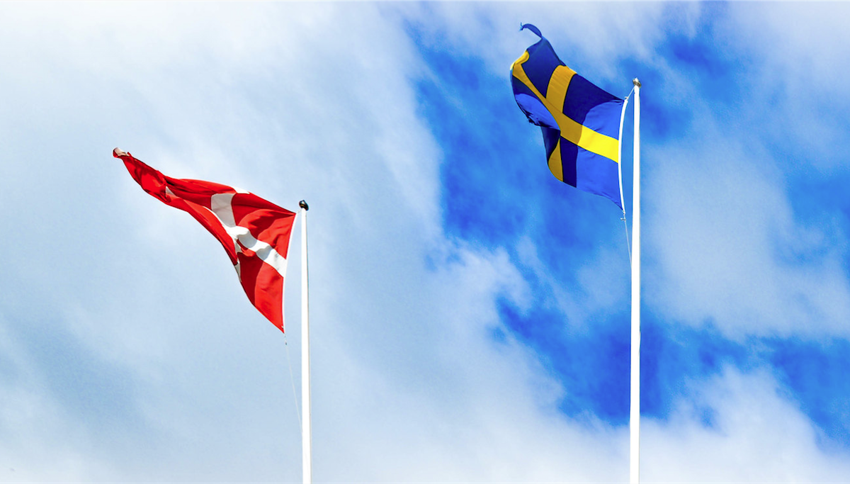 flags of denmark and sweden