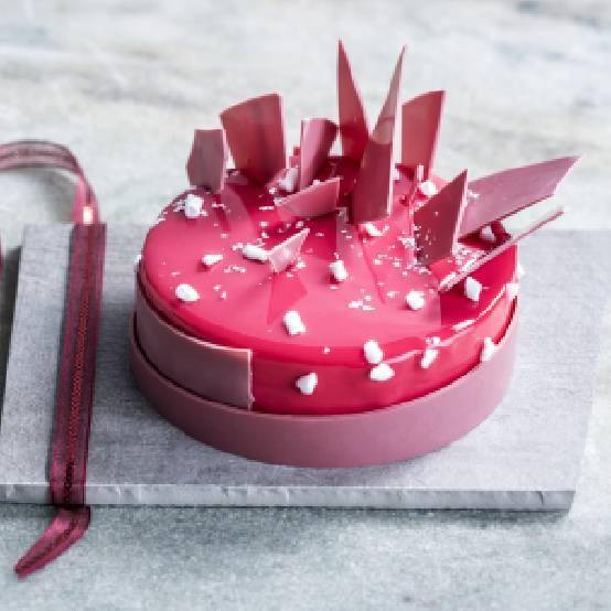 Ruby Chocolate Cheesecake, made by chef Willem Verlooy