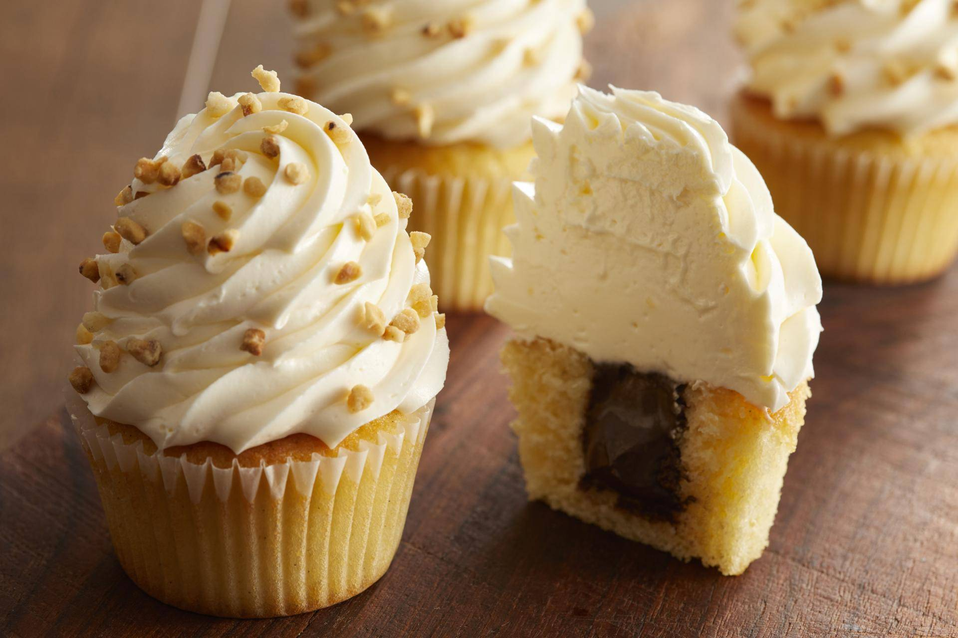 Almond Cupcakes with Almond Buttercream