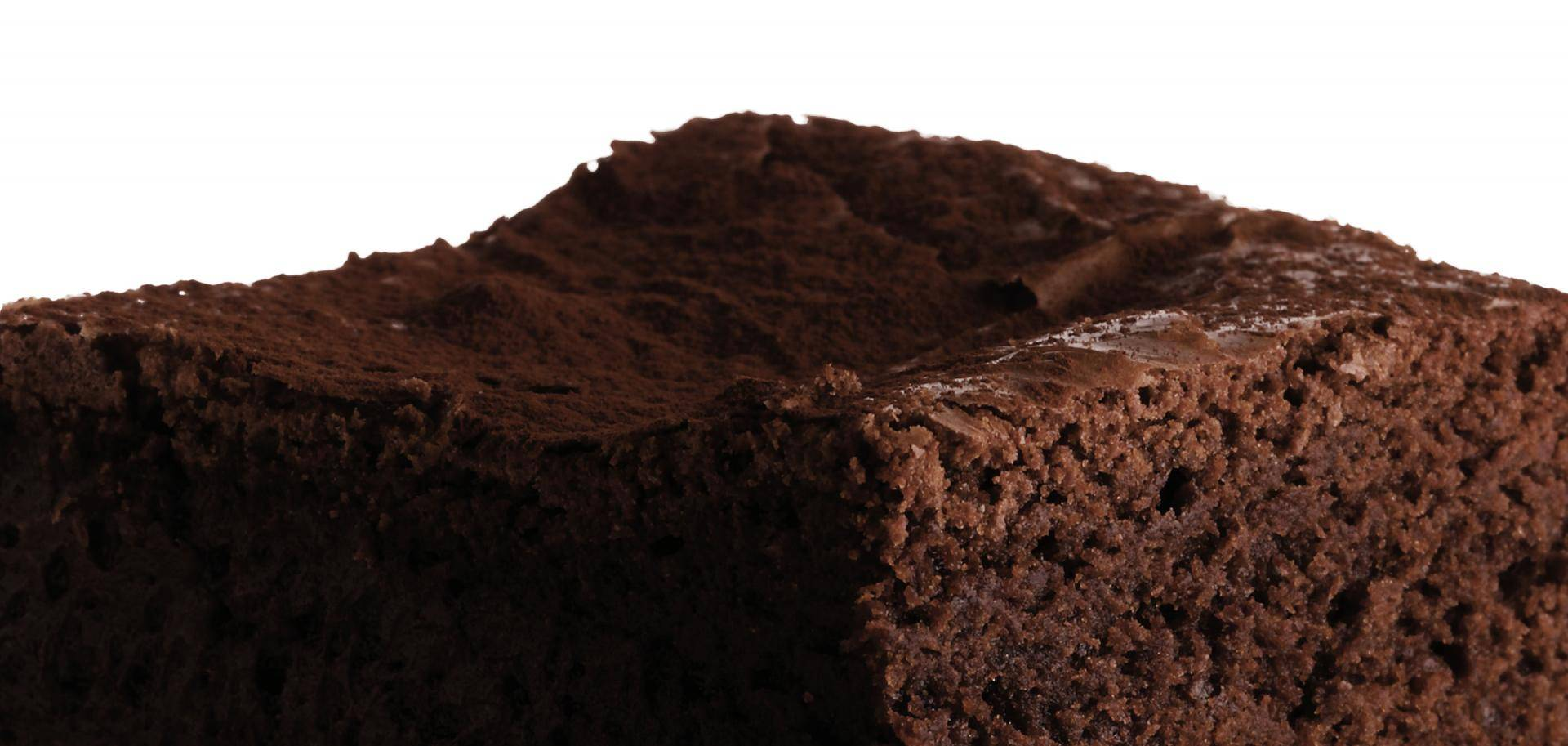Brownie made with Natural Dark cocoa powder