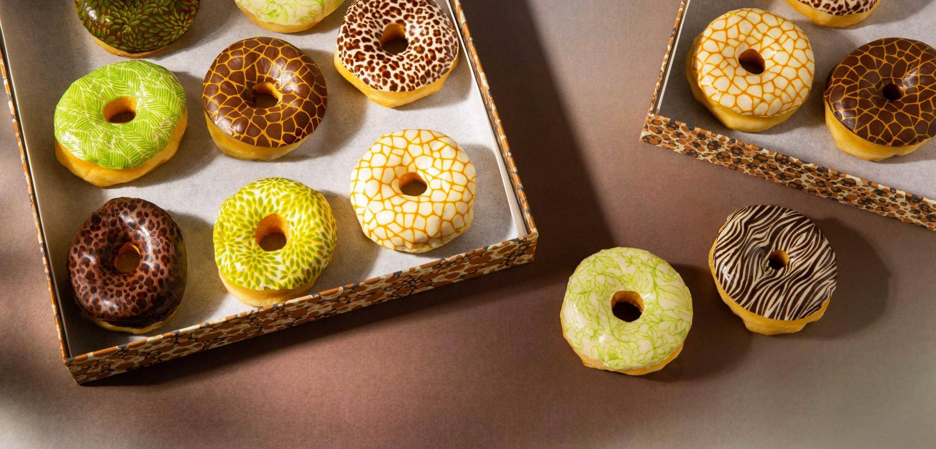 Donuts with printed glazing