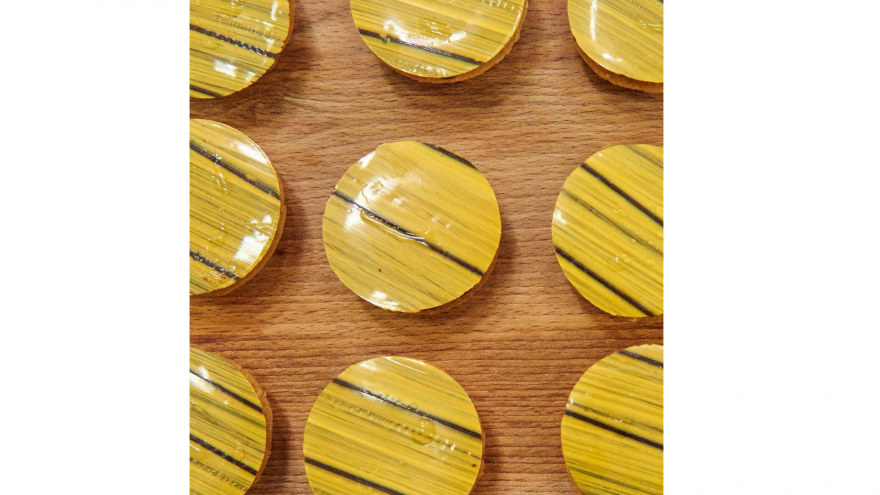 Barry Callebaut yellow decorated sweets