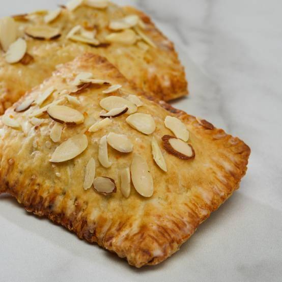 two cherry almond hand pies