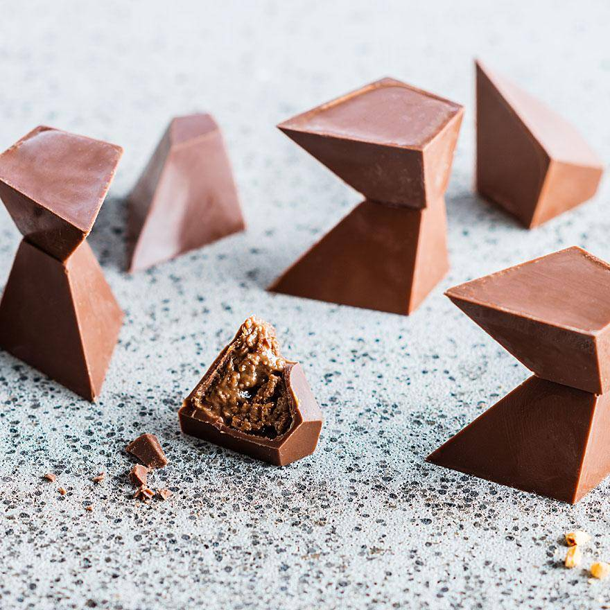 Sustainable chocolate pralines