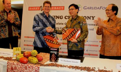 Signing of agreement with GarudaFood