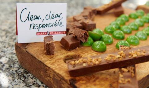 "Barry Callebaut Chocolate pralines - ""Clear, clean, responsable"""