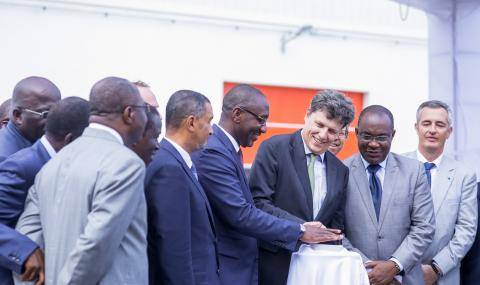 CEO Antoine de Saint-Affrique at inauguration new processing unit