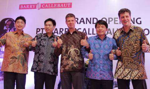 Barry Callebaut and GarudaFood leaders celebrate opening of chocolate factory in Indonesia