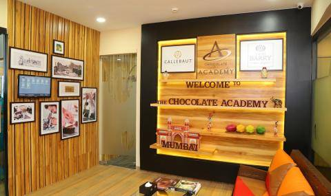 Entrance of new, relocated Callebaut® CHOCOLATE ACADEMY™ center in Mumbai