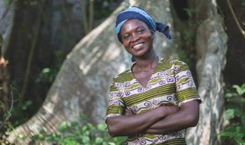 Women cocoa farmer in Côte d'Ivoire