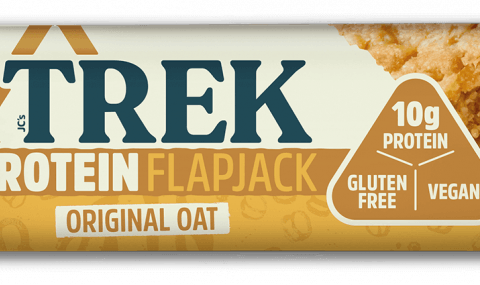 Trek Cereal bar with vegan claim, by