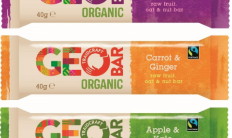 Fruit & nut bar with veggie flavors, by GEO bar