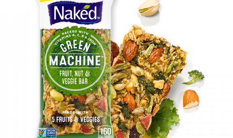 Fruit & nut bar made with 5 fruits & veggies, by Naked