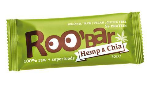 Fruit & nut bar with plant-based superfoods hemp & chia