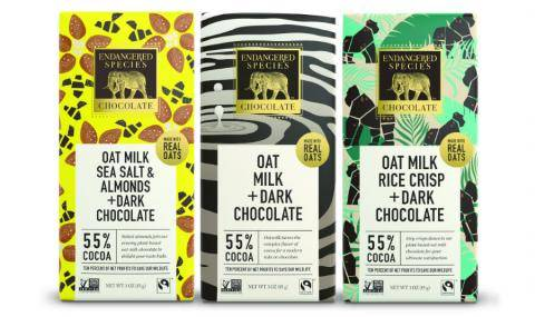 Endangered Species (US) new chocolate range 'Made with Real Oats'
