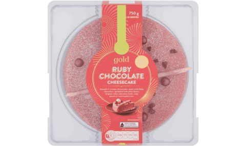 Woolworths Gold Ruby Chocolate Cheesecake