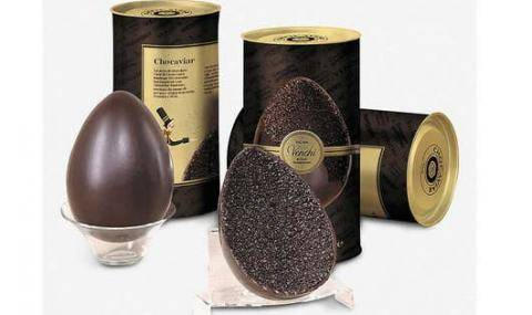 "Easter egg with ""caviar"" decoration made from our granella - Easter decorations"