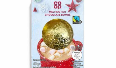 Co-op Fairtrade Melting Hot Chocolate Bombe