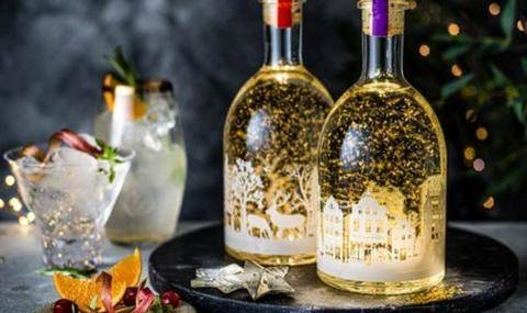 M&S Christmas Gin with edible gold (UK)