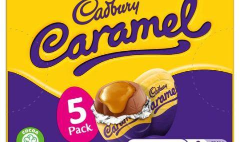 Cadbury milk chocolate Easter eggs with caramel filling
