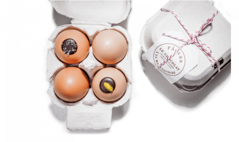 Alain Ducasse filled eggs in their shells (FR) - To eat, it's simple and fun: you just need to peel the eggshell!