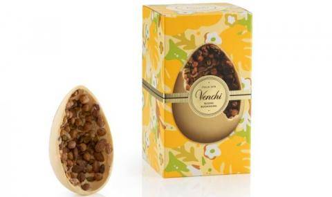 Venchi (IT) - White chocolate Easter egg with tasty Piedmont hazelnuts, almonds, and salted pistachios