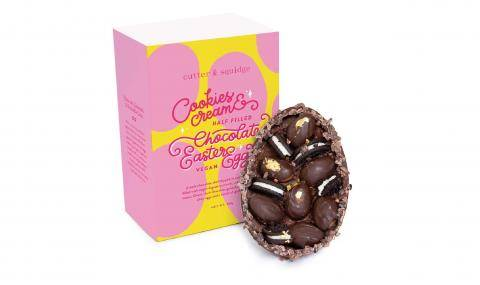 Cutter & Squidge (UK) - Vegan cookies & cream chocolate egg