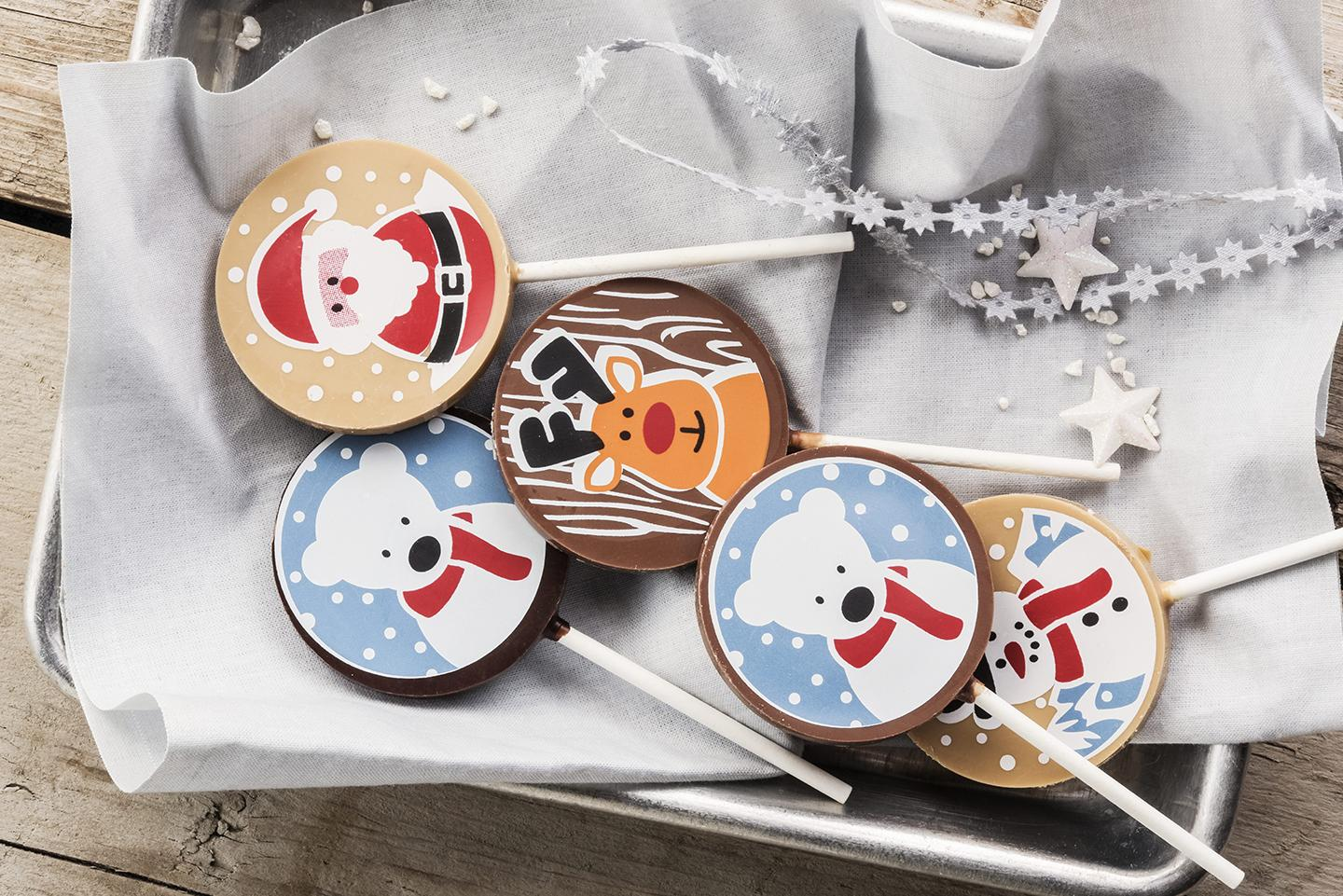 BCFM - Applications - Confectionery - Lollypops - Chocolate - Transfer Sheets - CHRISTMAS LOLLIES-1371