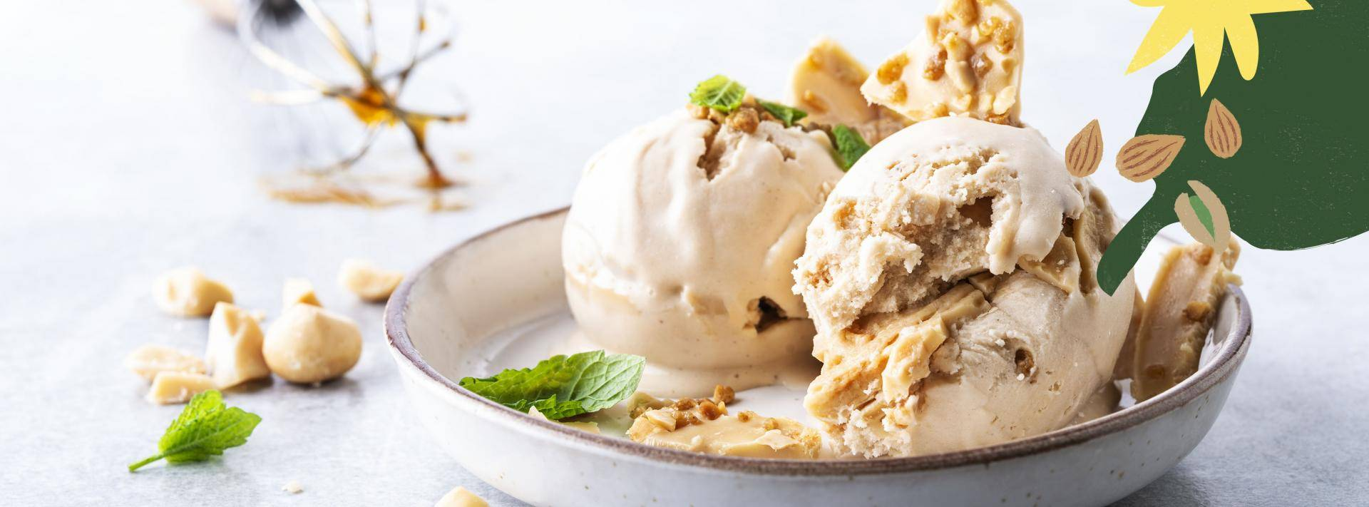 Dairy-free vegan ice cream