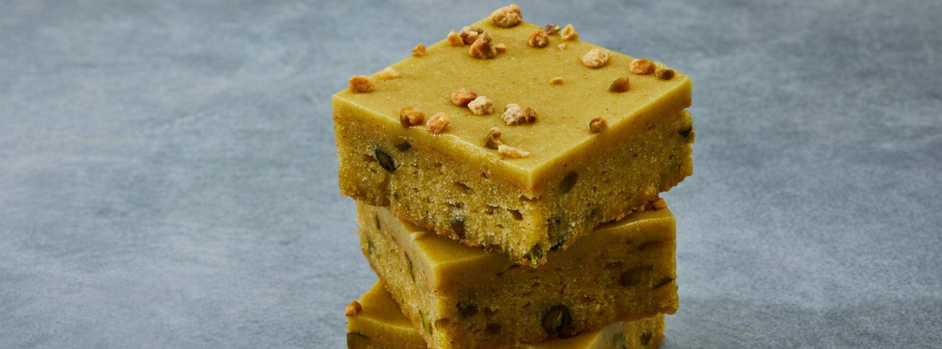 Almond & Pistachio White Chocolate Brownie