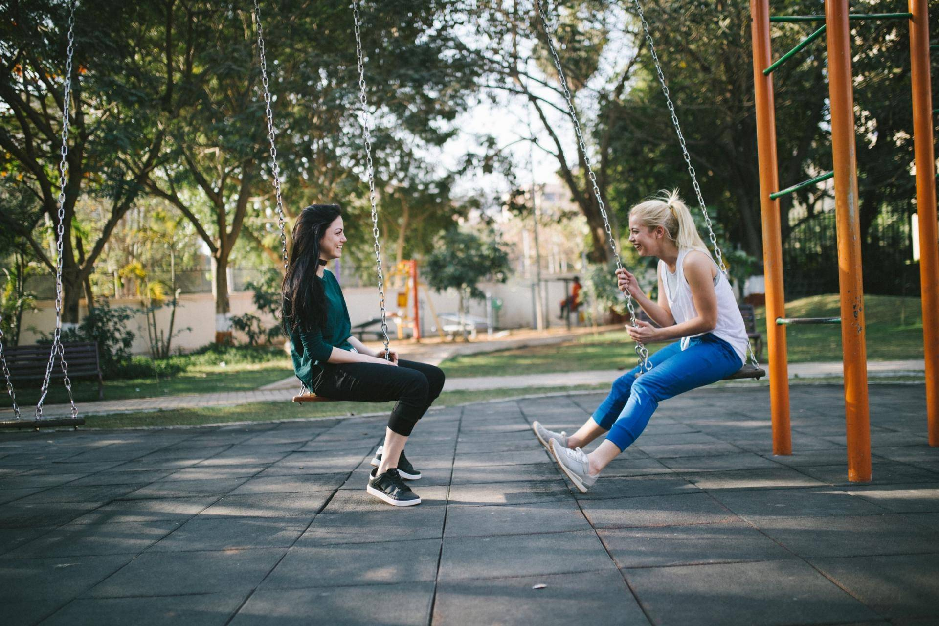 image by Bewakoof, two girls on swings