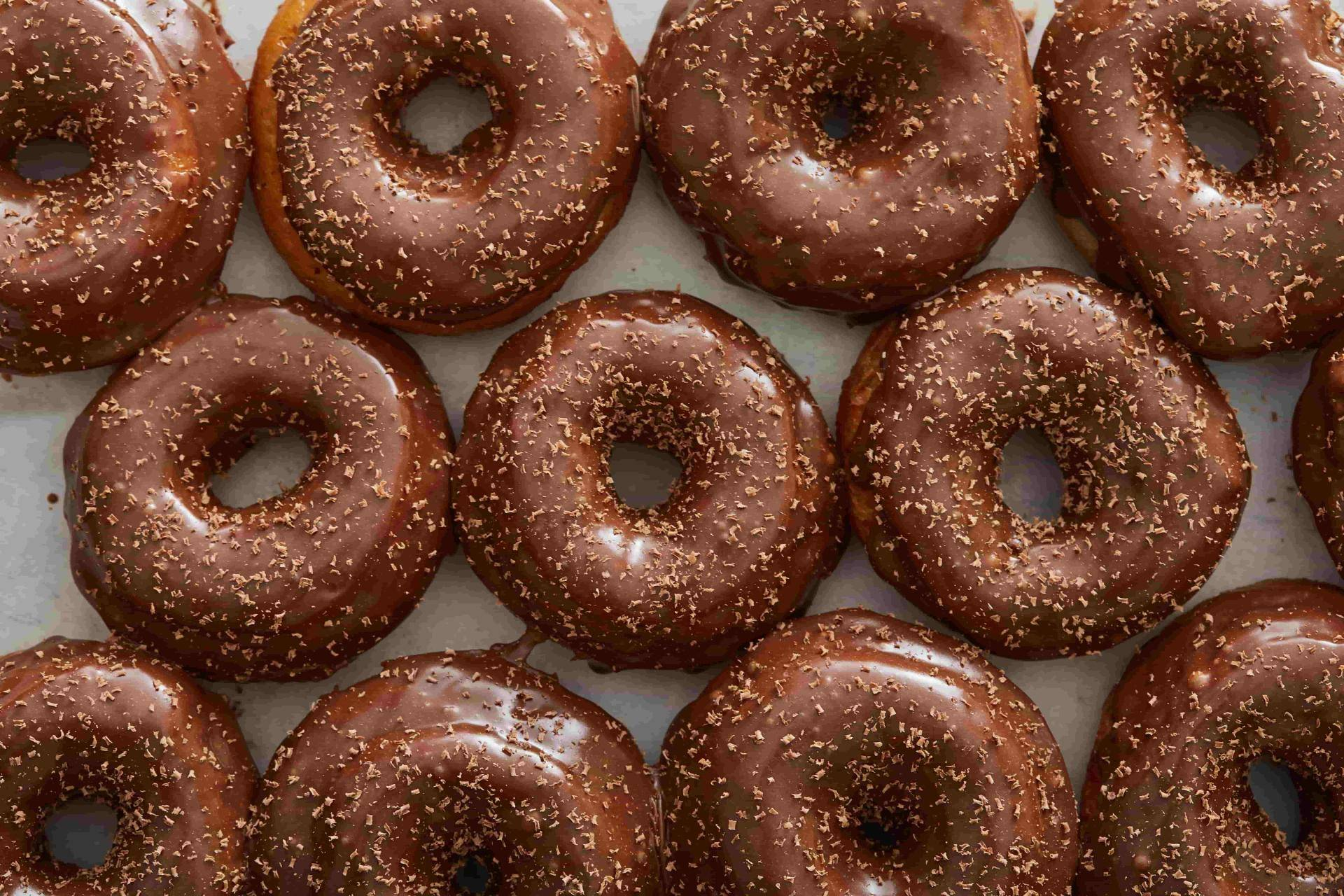 milk chocolate donuts
