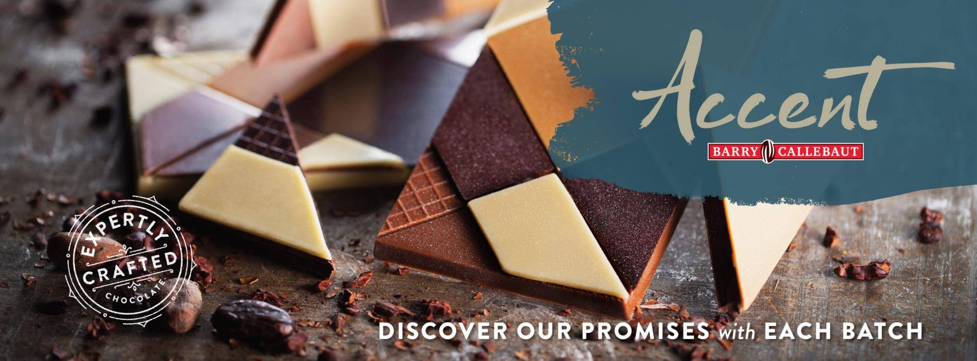 'Accent' written in a script font over a blue paint swatch