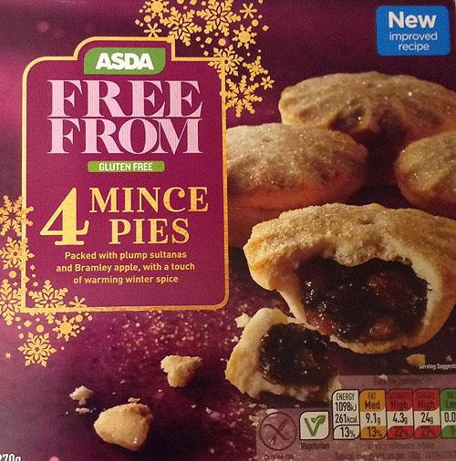 free from gluten and wheat mince pies