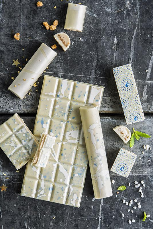 Nordic frost white chocolate bars