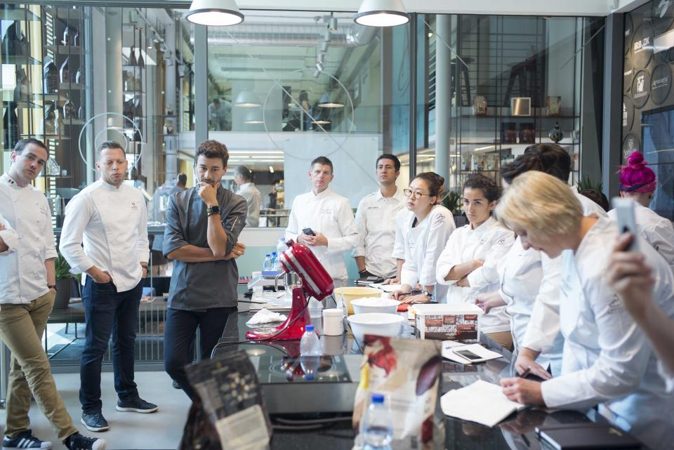 Chefs at work at new Chocolate Academy center Milan