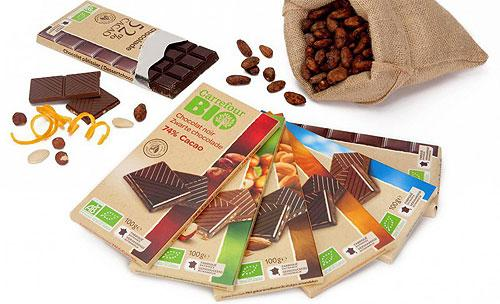 Carrefour organic chocolate tablet range - confectionery