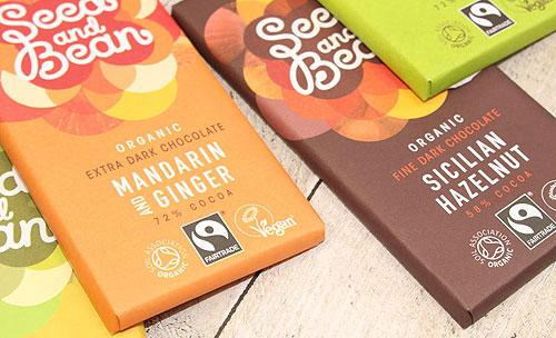 Seed and bean organic chocolate - confectionery