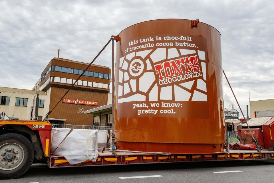 Tony's Chocolonely chocolate tank
