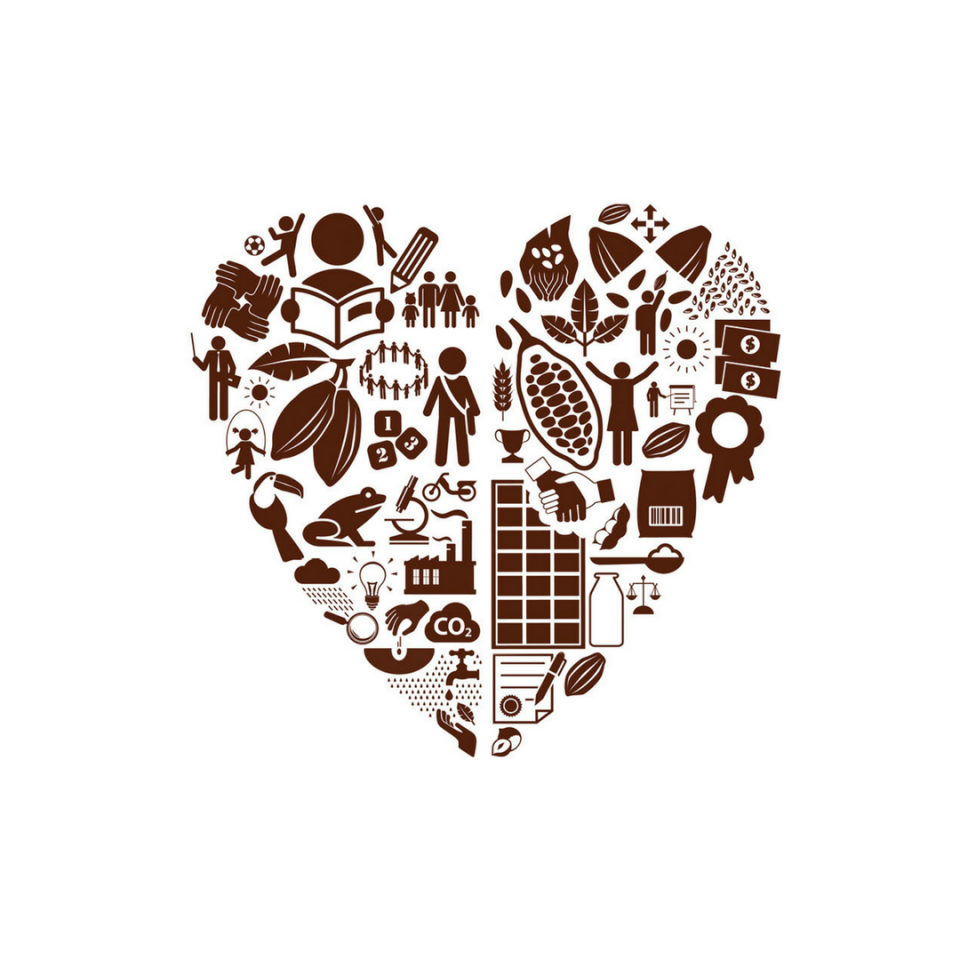 Forever Chocolate Heart Logo