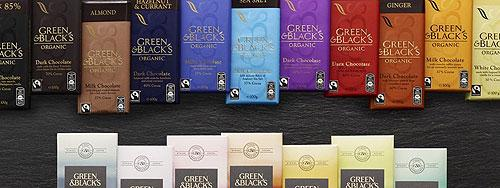 Green&Black's organic chocolate bars