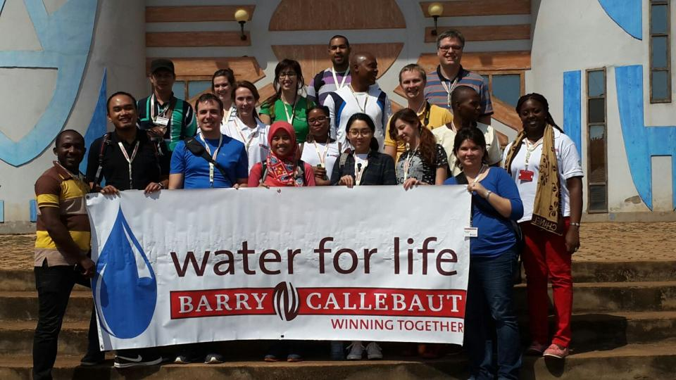 Barry Callebaut Water for Life champions during Cameroon cocoa study tour - at the Civilization Museum in Dschang