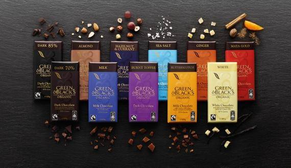 Green&Black's organic chocolate bars - confectionery