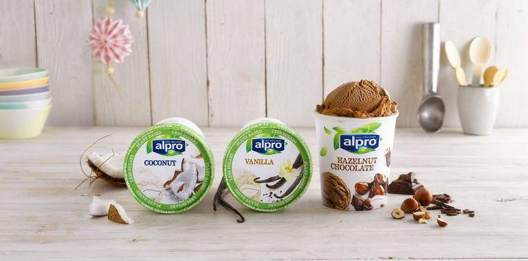 Alpro plant-based ice creams with less sugar