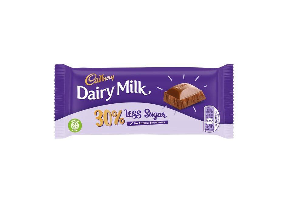 Cadbury Dairy Milk 30% less sugar
