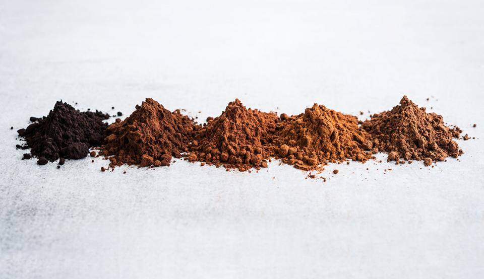Cocoa powders for a premium color sensory