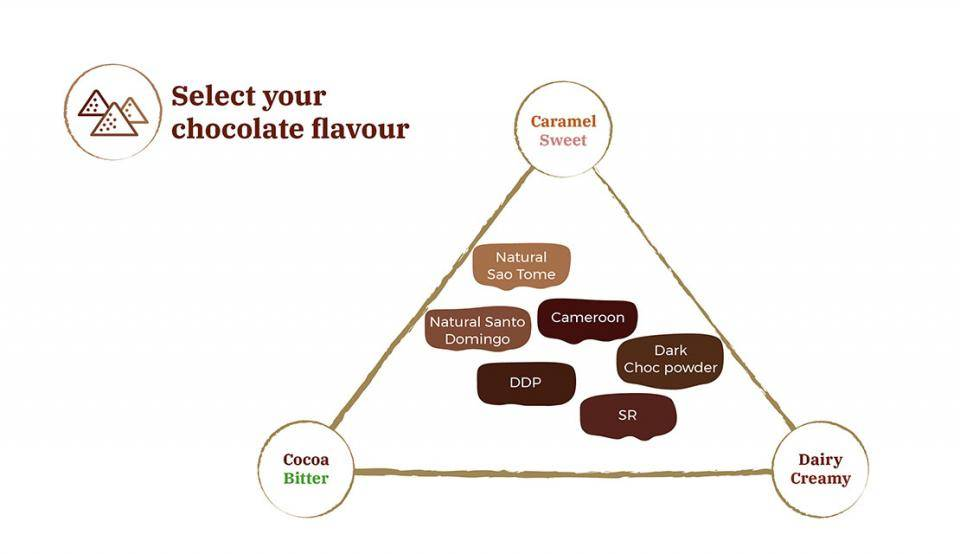 cocoa powder sensory mapping in ice cream