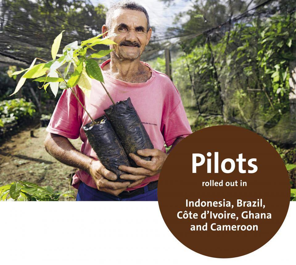 Sustainability – Barry Callebaut's Group, Pilots rolled out in Indonesia, Brazil, Côte d'Ivoire, Ghana and Cameroon
