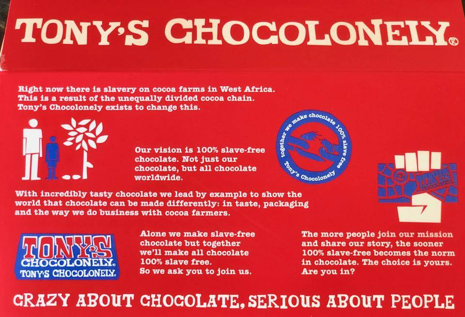 Tony's Chocolonely approach: slave free chocolate